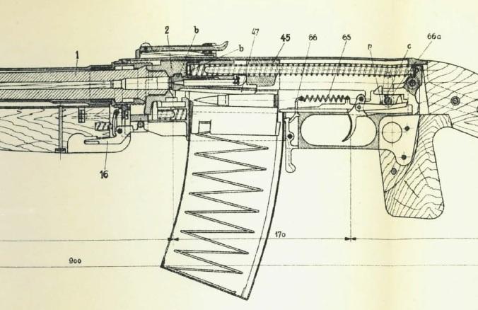 KE-7 LMG cutaway