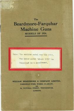 Beardmore-Farquhar manual