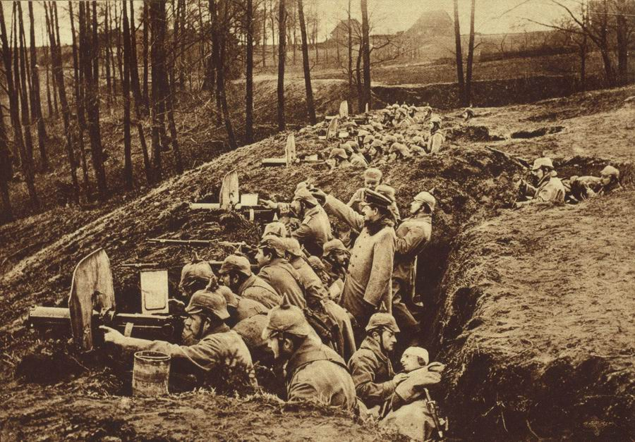 German Maxim Guns on the Line