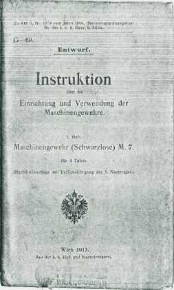Instructions on Use of the Schwarzlose 1907 (in German, published in Austria in 1913)