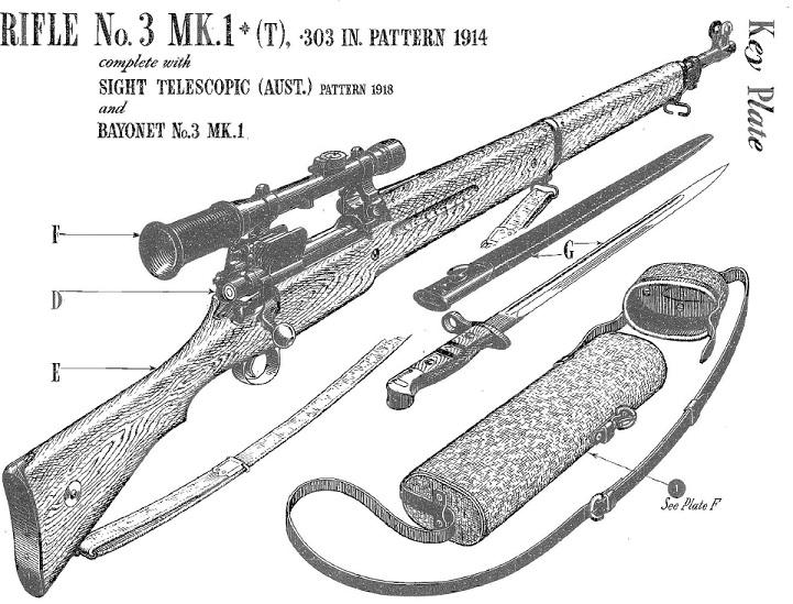 Australian No3 MkI(T) Enfield sniper rifle