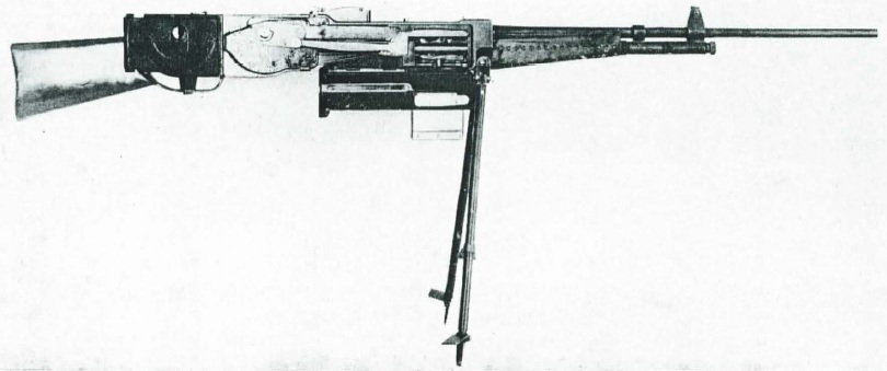 Eriksen machine gun, open to show internals