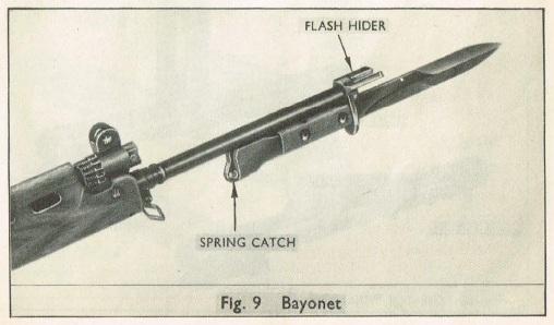 X8E1 / X8E2 flash-suppressing bayonet
