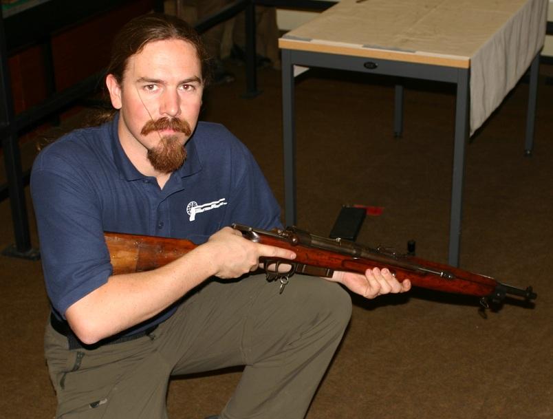Ian with a Cei-Rigotti rifle