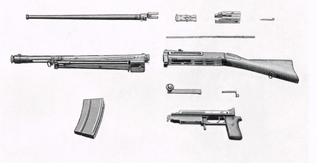 SIG KE7 light machine gun disassembled