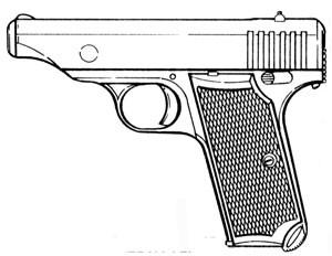 Japanese Type Hamada pistol, caliber .32 ACP