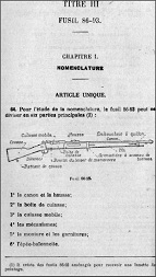Fusil 86-93 Lebel manual (French)