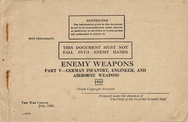Enemy Weapons - German Infantry Engineer and Airborne Weapons (English, 1943)