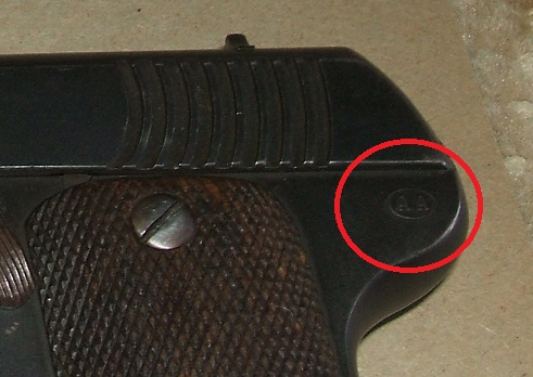 Manufacturer's code on a Spanish Eibar/Ruby pistol