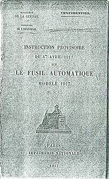 RSC Mle 1917 manual (French, 1917)