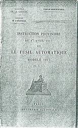 RSC Mle 1917 manual (French, 1917)