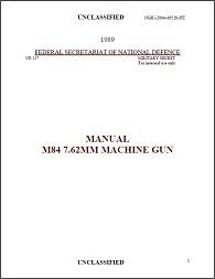 Yugoslav M84 (PK) manual (English, 1989)
