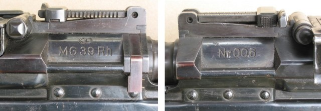 MG39 Rh receiver markings