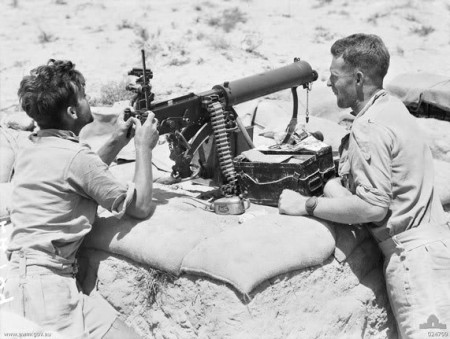 Australian Vickers at Rel El Eisa RR in Egypt August 1942