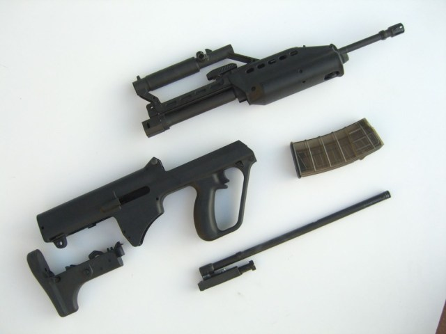 SAR-21 rifle field stripped