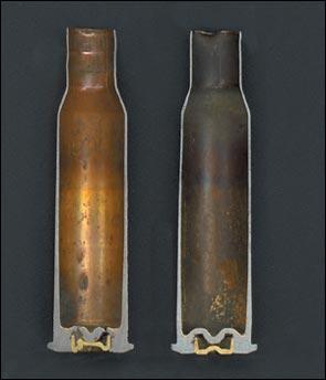 ShKAS cartridge case cutaway