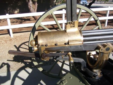 Colt 1890 Gatling with vertical magazine