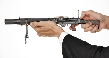 Miniature Lewis gun by Streshinskiy