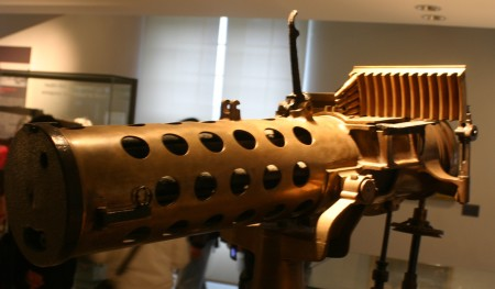 French Gatling gun with a stripper clip feed system
