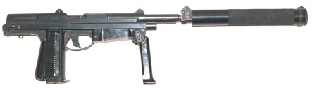 Suppressed PM-63 machine pistol