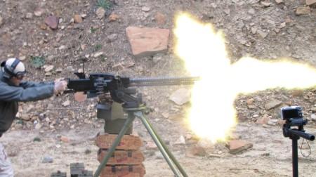 DShK 38/46 muzzle flash
