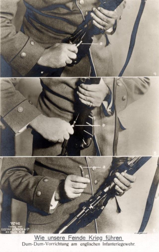 German propaganda postcard - 303 DumDum bullets