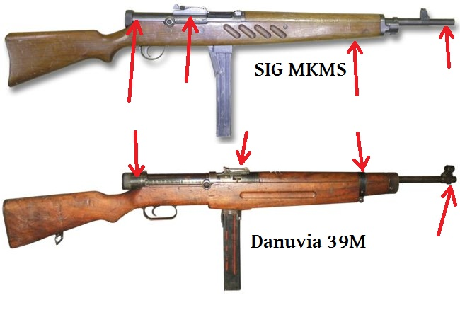 Danuvia 39M and SIG MKMS comparison