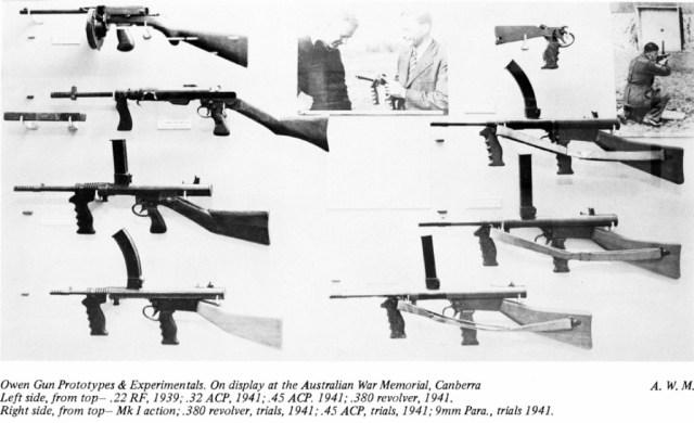 Prototype and experimental Owen guns