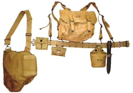 US WW2 web gear for the M1 Carbine