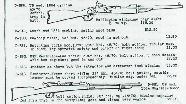 Vintage rifle ad