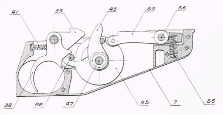 Hotchkiss M1922 trigger mechanism