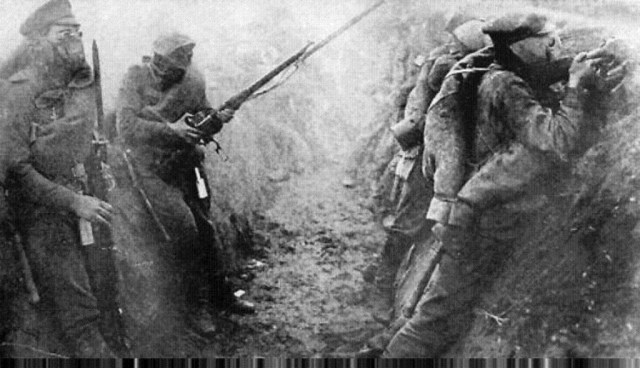 WWI Russians with Winchester M1895 Muskets