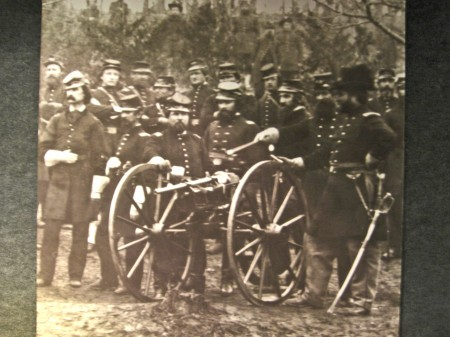 Union troops with a Coffee Mill Gun