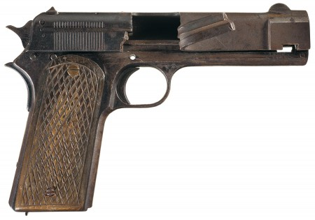 Colt 1907 destroyed factory prototype
