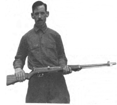Capt. James Hatcher with his modified Bang rifle