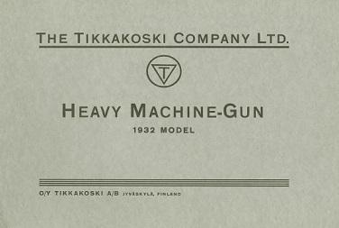 Heavy Machine Gun Model 1932 - Maxim (English, 1933)