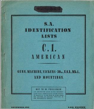 Vickers cal .30-06 Parts List