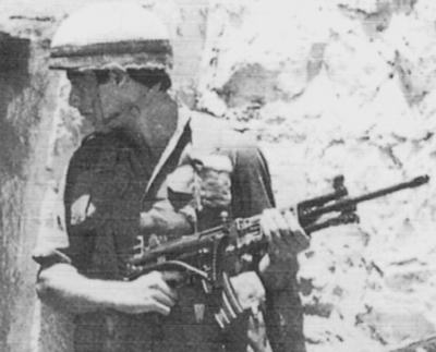 Israeli soldier with Galil ARM