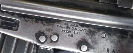 Galil AR receiver markings