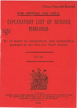 Service Markings to be Found on Ammunition and Packages - English 1918.pdf