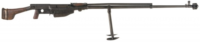 Russian PTRS antitank rifle