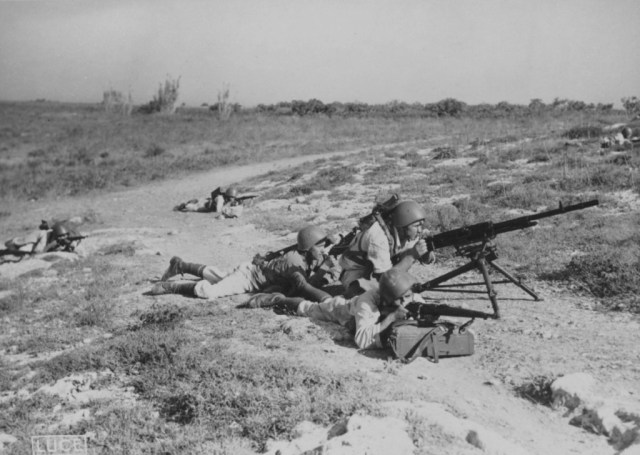 Italian marines at Sitia on Crete