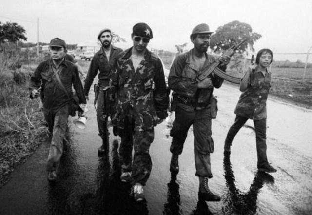 Panamanian rebels with Galil SAR rifles