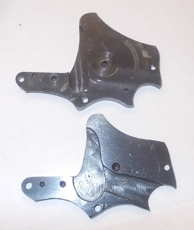 Sideplates - Hand Ejector top and Trocaola below