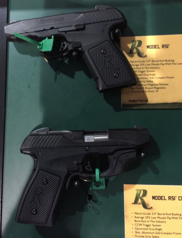 Revised prototype Remington R51 pistols