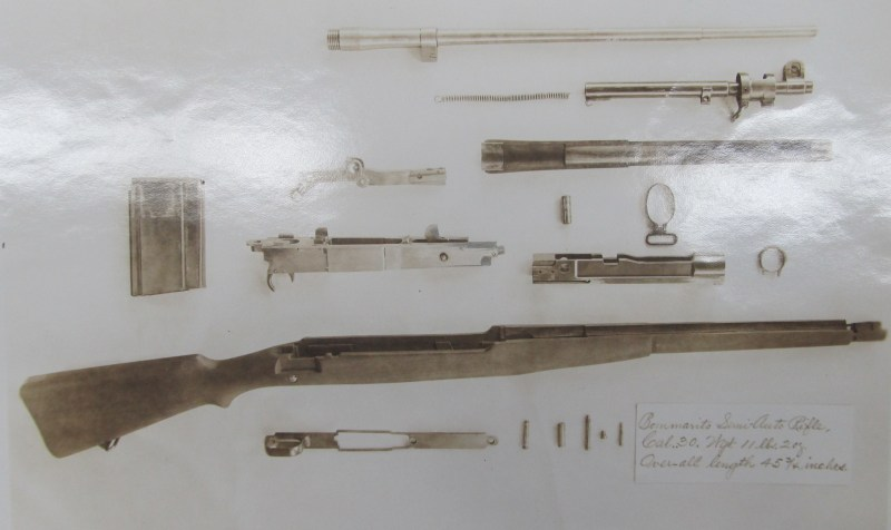 Bommarito rifle fully disassembled