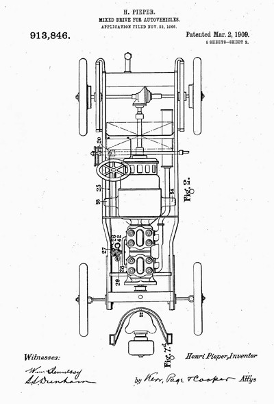 Pieper automobile patent