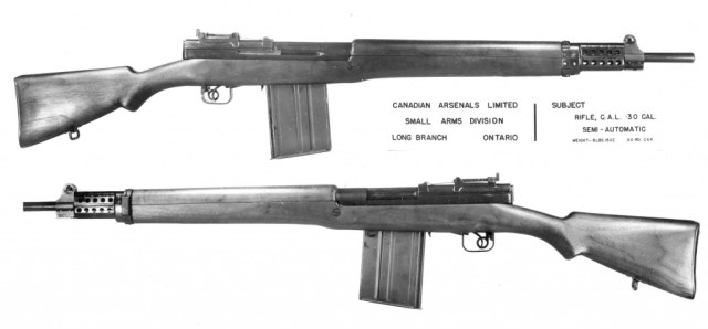 Canadian EX-2 rifle, .30 caliber.