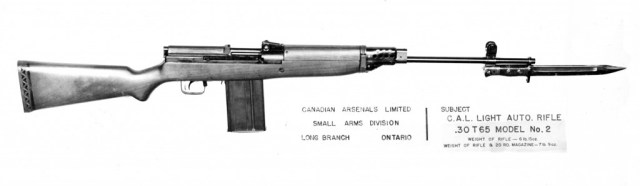 Lightened version of the EX-2, using short-action magazine (probably T65 chambering). Source: MilArt photo archives (click to enlarge)