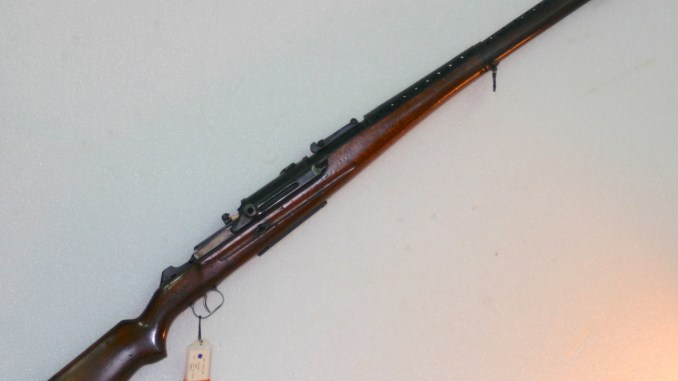 British trials Bang Rifle, caliber .303 (photo courtesy National Firearms Centre, Leeds, UK)